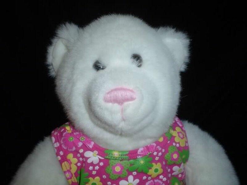 Build a Bear bianca Plush Flower Dress Handmade Canada