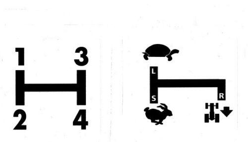 Deutz Schaltschema D6806 Baureihe 5+9 Aufkleber Label Sticker .