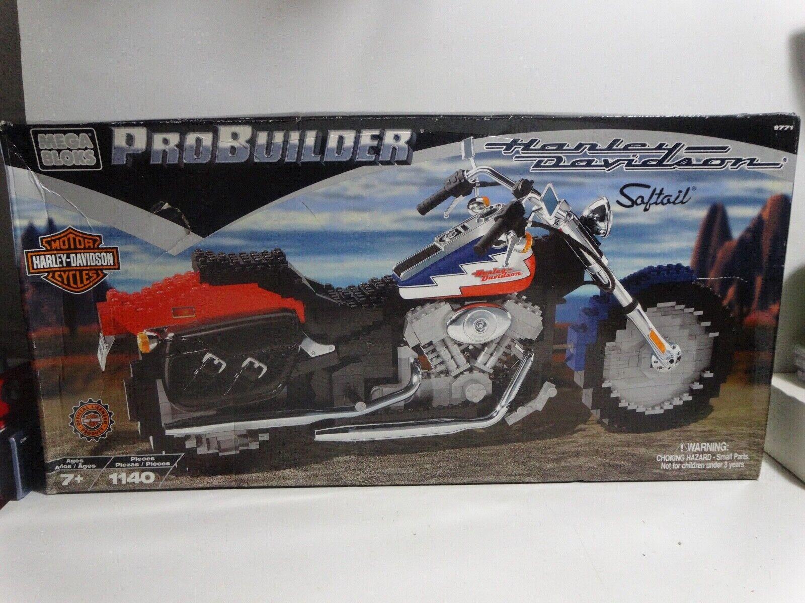 Mega Bloks 9771 ProBuilder 2001 Harley Davidson Softail Motorcycle 1140 pcs.