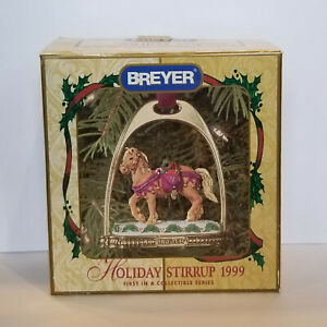 Breyer-700669-1999-Holiday-Stirrup-Christmas-Horse-Ornament-NIB