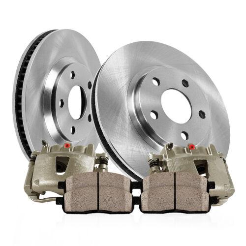For 6 Lug Ford F150 Lincoln Mark LT Rear Brake Calipers Rotors /& Ceramic Pads