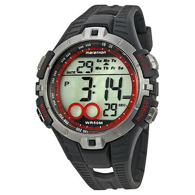 Timex Marathon Digital Dial Black Rubber Mens Watch T5K423