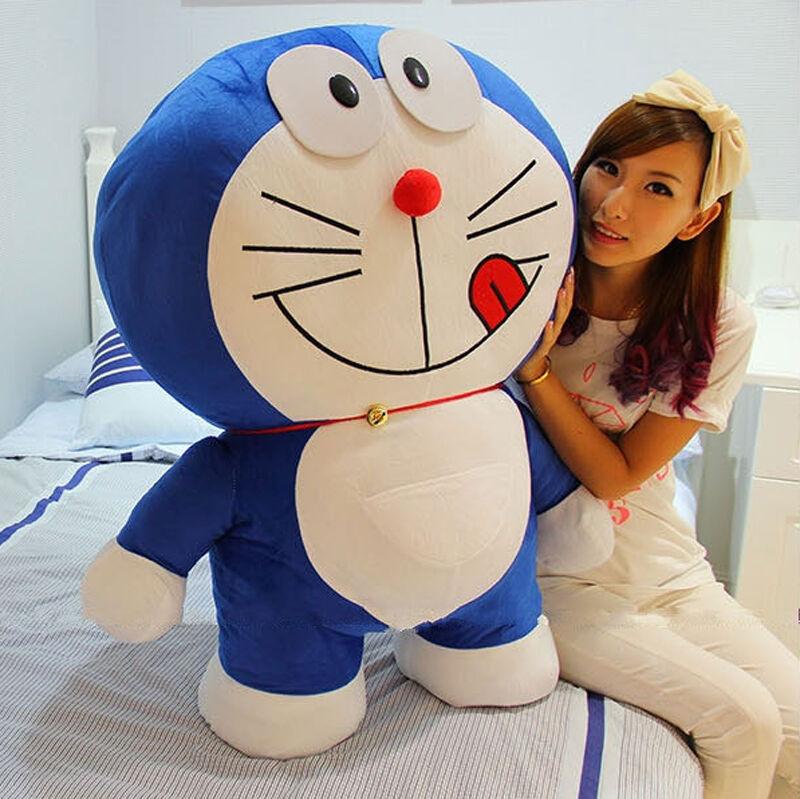 Hot Doraemon Giant Large Stuffed Cartoon 80cm Soft Plush Toy Doll Xmas Gift 1pc