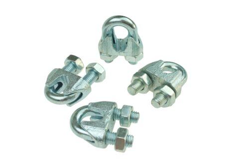 10 Stück  Seilklemme Drahtseilklemme Klemme verzinkt 3-30 mm 5 Stücke