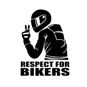 7-4inch-Respect-for-Bikers-Sticker-Car-Vinyl-Decal-Funny-Motorcycle-Waterproof