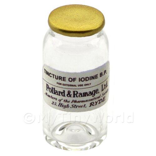 Miniatura Tintura de Yodo B.P Tarro de Vidrio de boticario a granel