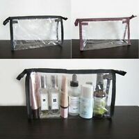 1,5,10 Clear Transparent Plastic PVC Travel Cosmetic Make Up Toiletry Bag Zipper