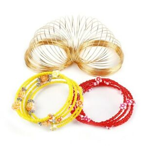 100-Loops-Memory-Beading-Steel-Wire-Multi-layer-Bangle-Bracelet-Jewelry-Making