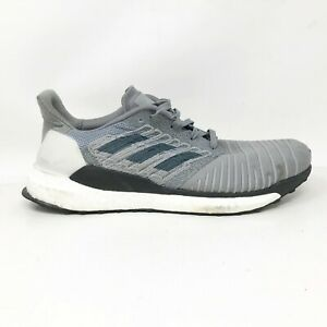 Adidas Mens Solar Boost CQ3170 Grey Running Shoes Lace Up Low Top Size 11