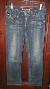 Women-039-s-Sz-28-Big-Star-Sweet-Ultra-Low-Rise-Stretch-Distressed-Jeans