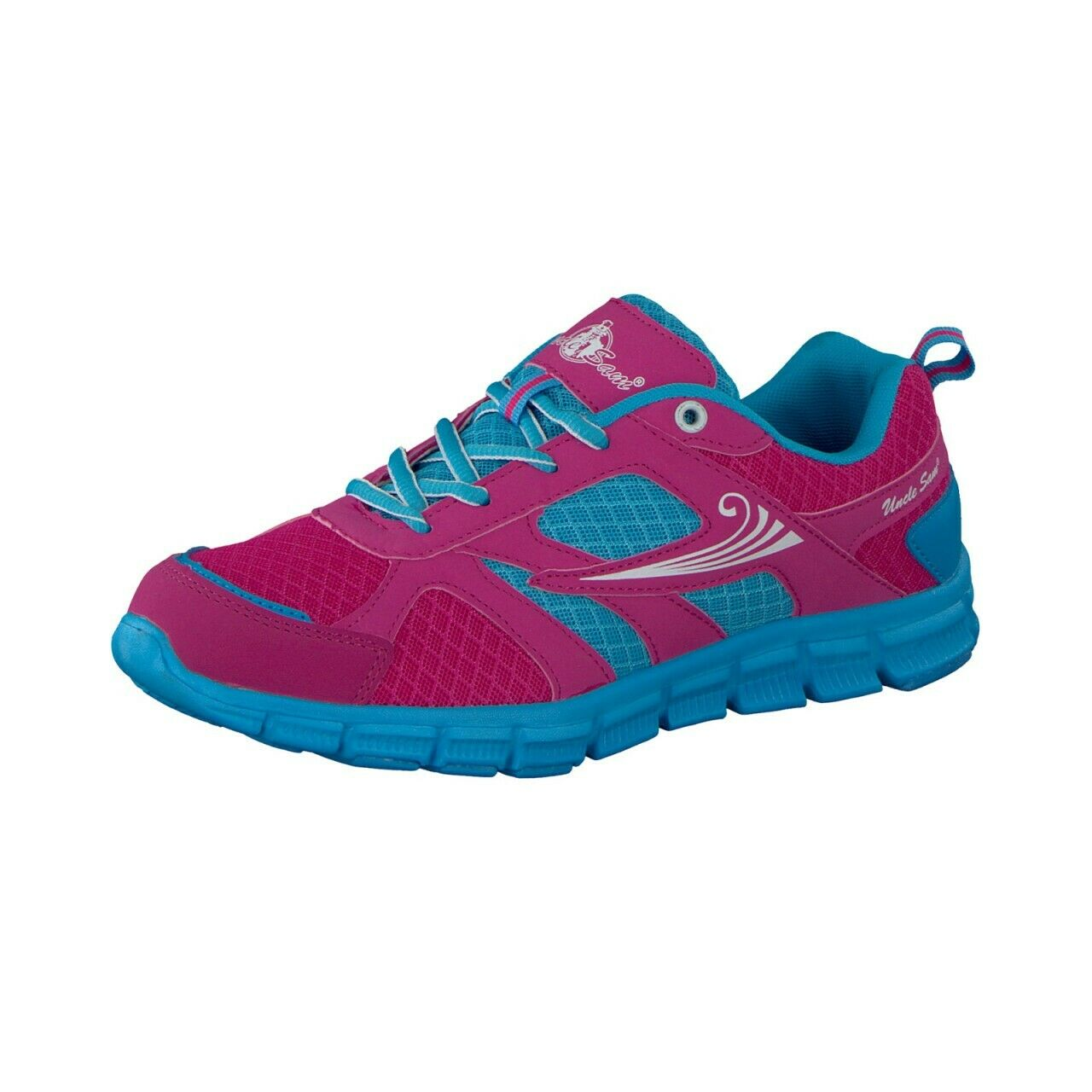 Uncle Sam Ladies Lightweight Running shoes in Pink bluee
