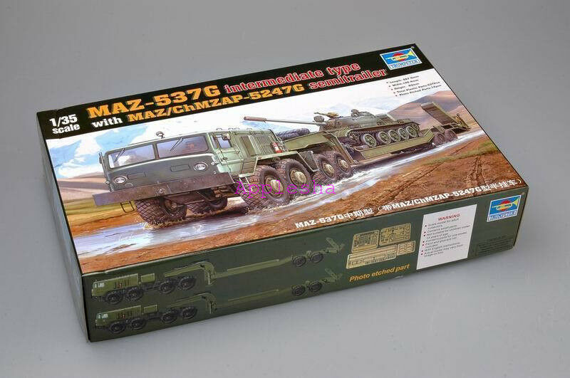 Trumpeter 00211 1 35 MAZ-537G Mid with Semi-Trailer