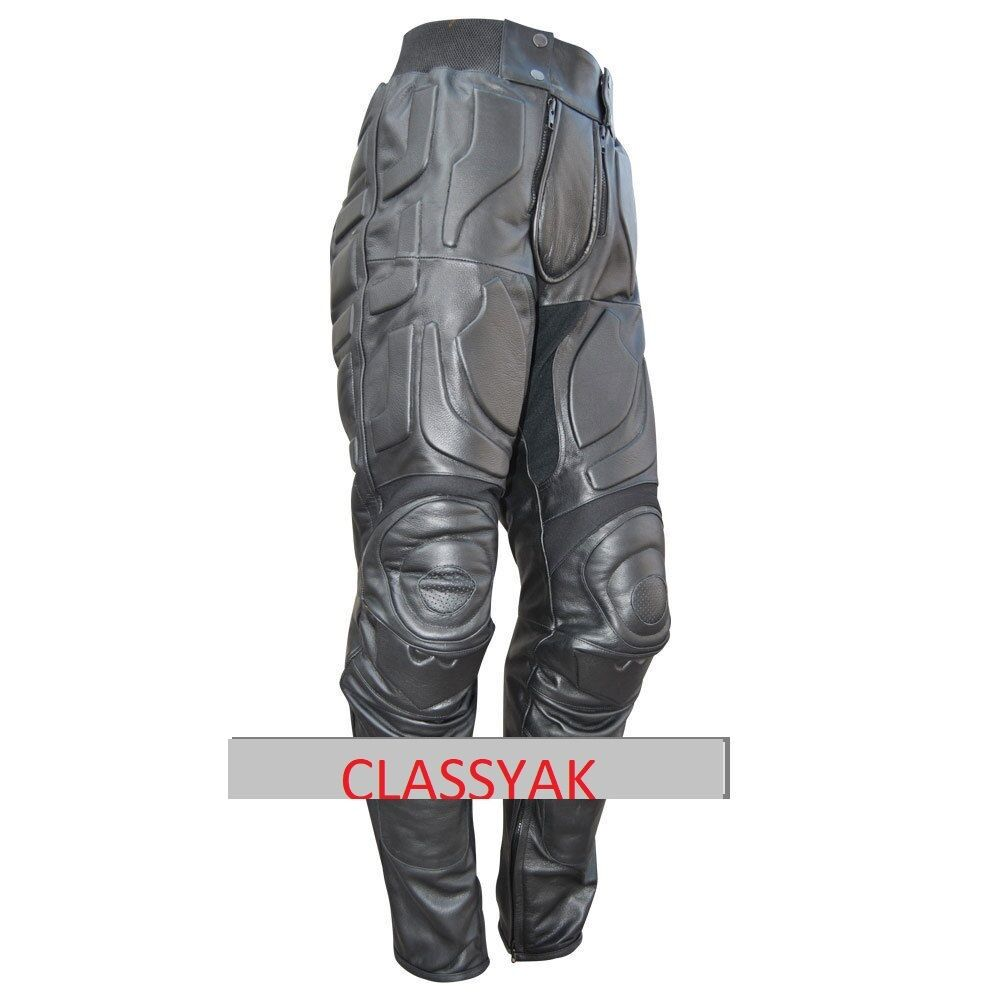 Classyak Batman Dark Knight Rises Real Leder Motorcycle Leder Pant, Xs-5xl