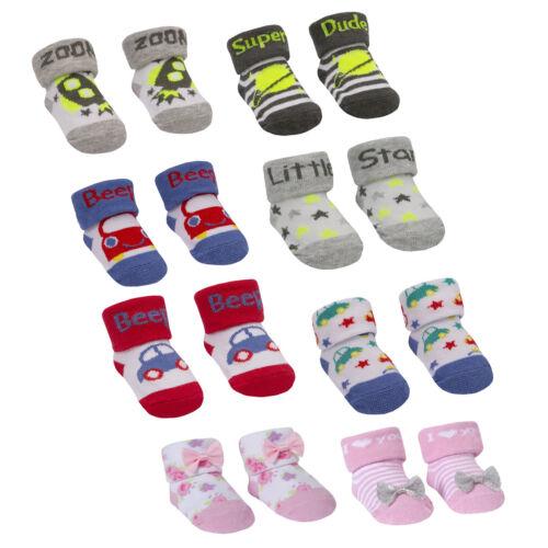 Baby Boys Girls Organza Bag Gift Socks Baby Socks 0-6 /& 6-12 Months 10C