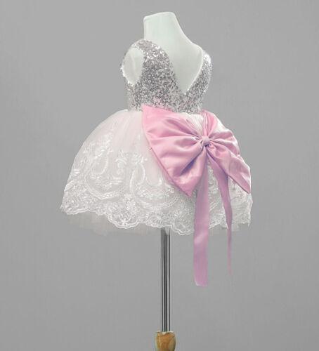 UK Baby Girl Kids Party Tutu Dress Pageant Wedding Birthday Princess Christening