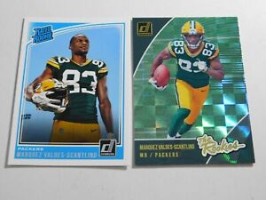 Marquez Valdes-Scantling  2018 Donruss Rated Rookie & The Rookies 2 Card Lot - O