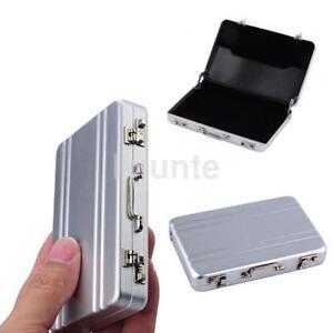 Mini aluminum suitcase briefcase business credit bank card holder image is loading mini aluminum suitcase briefcase business credit bank card colourmoves