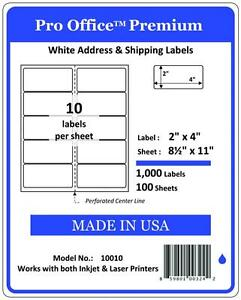 PO10-1000-Sheets-10000-Labels-2-034-x-4-034-Pro-Office-Self-Adhesive-Address-Label