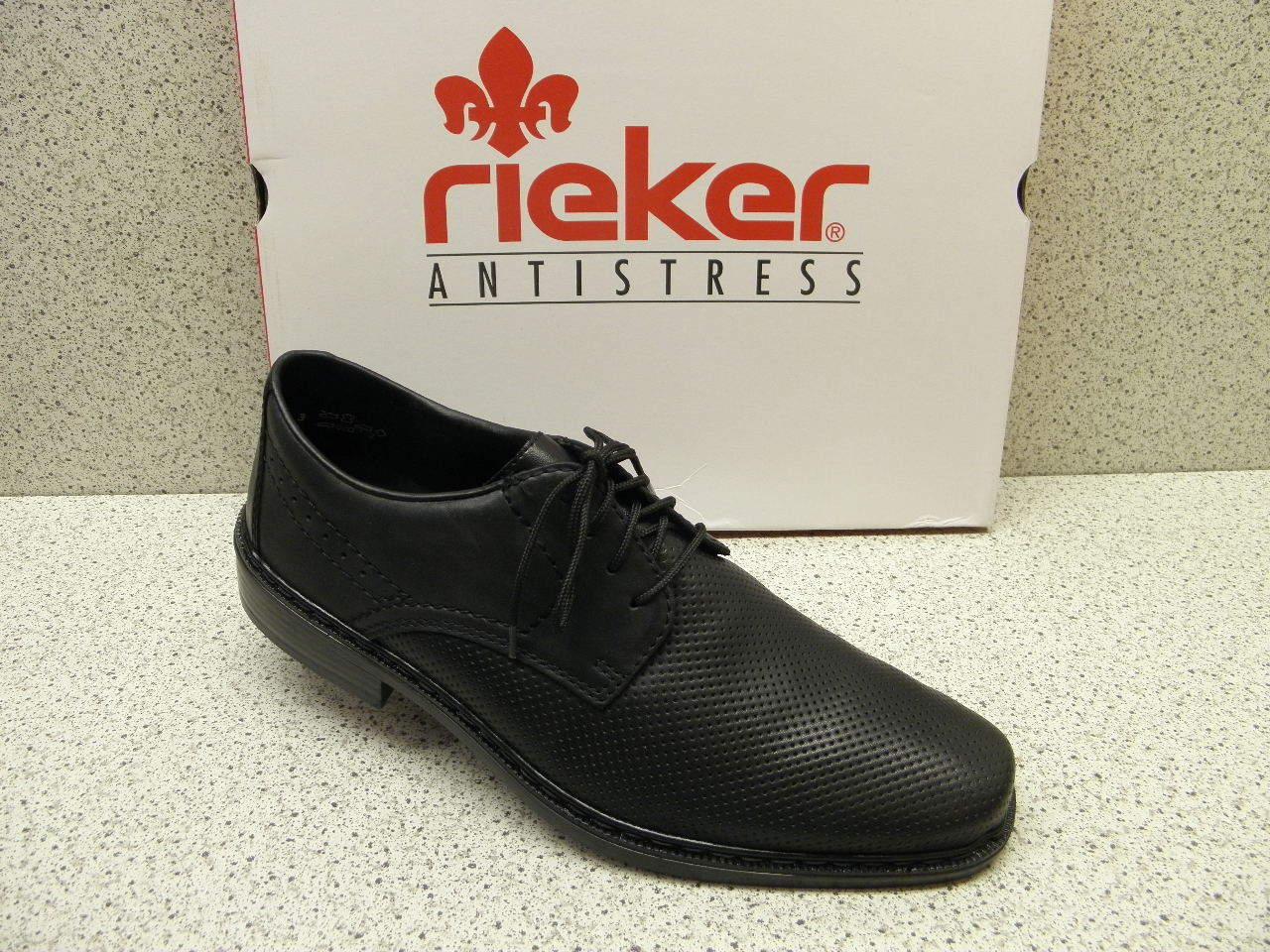 rieker ®  bisher 69,95   Halbschuhe schwarz + gratis Premium - Socken  (R286)