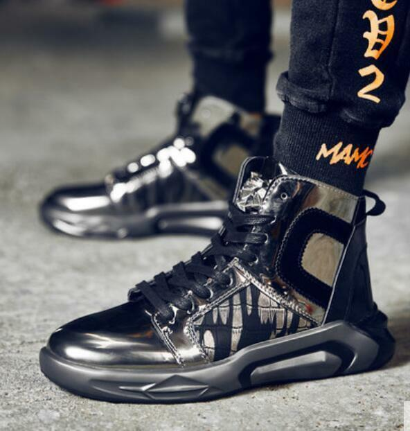 Fashion Mens High Top Athletic Sneakers Lace Up Hip Hop Casual shoes Boys Hot US