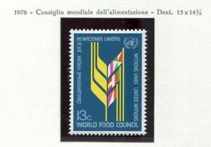 19137A-UNITED-NATIONS-New-York-1976-MNH-Nuovi-Food-lab