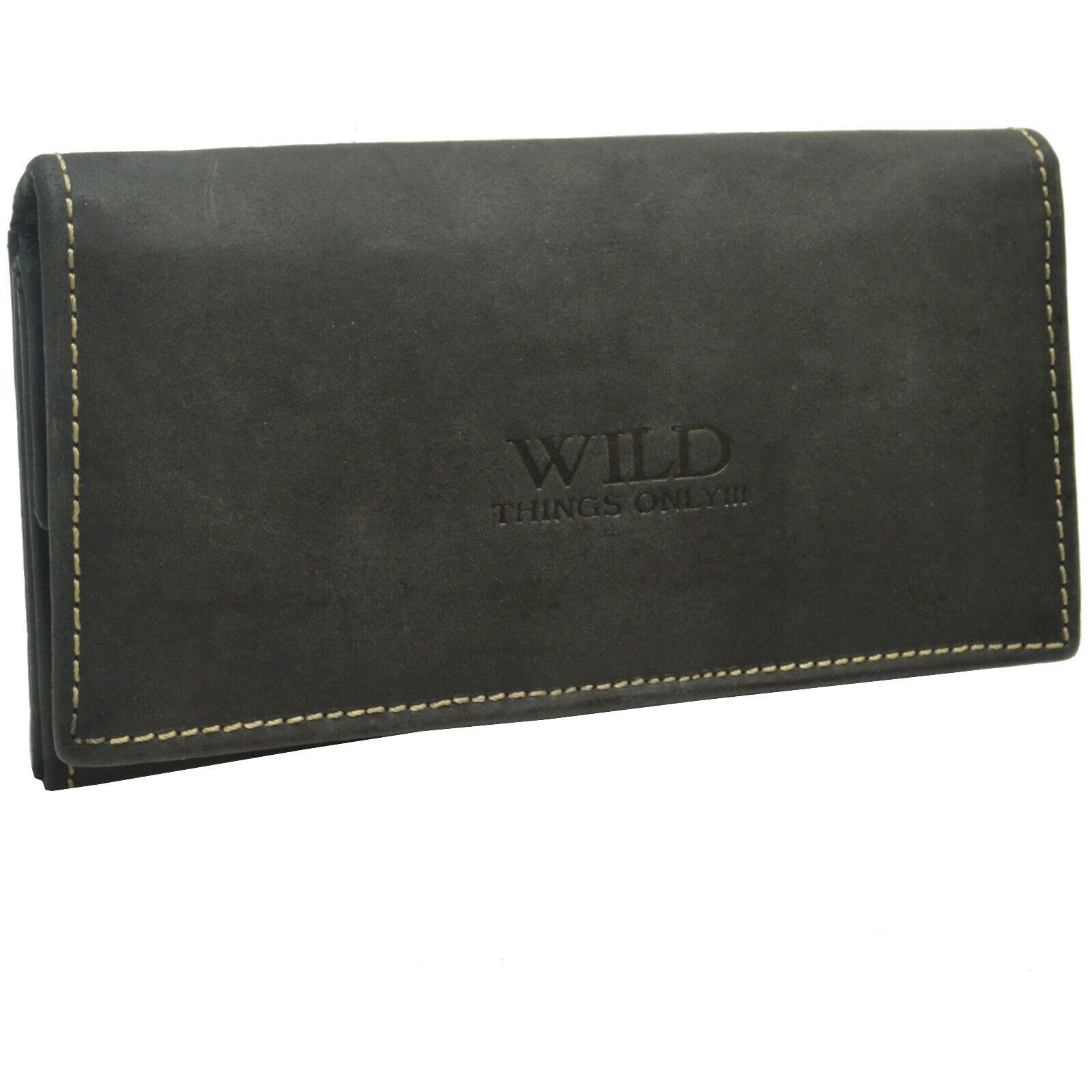 Flevado Womens Wallet Purse Black much storage space Wild things only!
