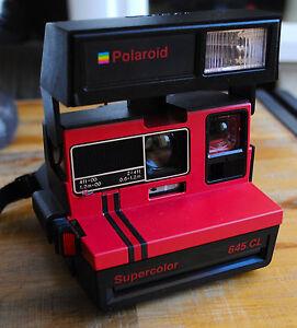 Chargement de l image en cours Appareil-photo-instantane-POLAROID -SUPERCOLOR-645-CL-Rouge- 958fcd2574d3
