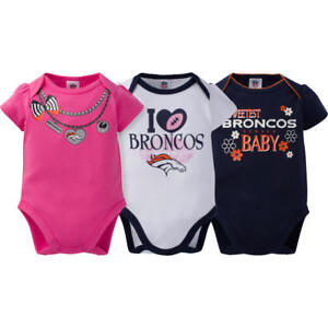Image is loading Denver-Broncos-NFL-Baby-Girl-3-Set-Bodysuits- 0f4918bcb