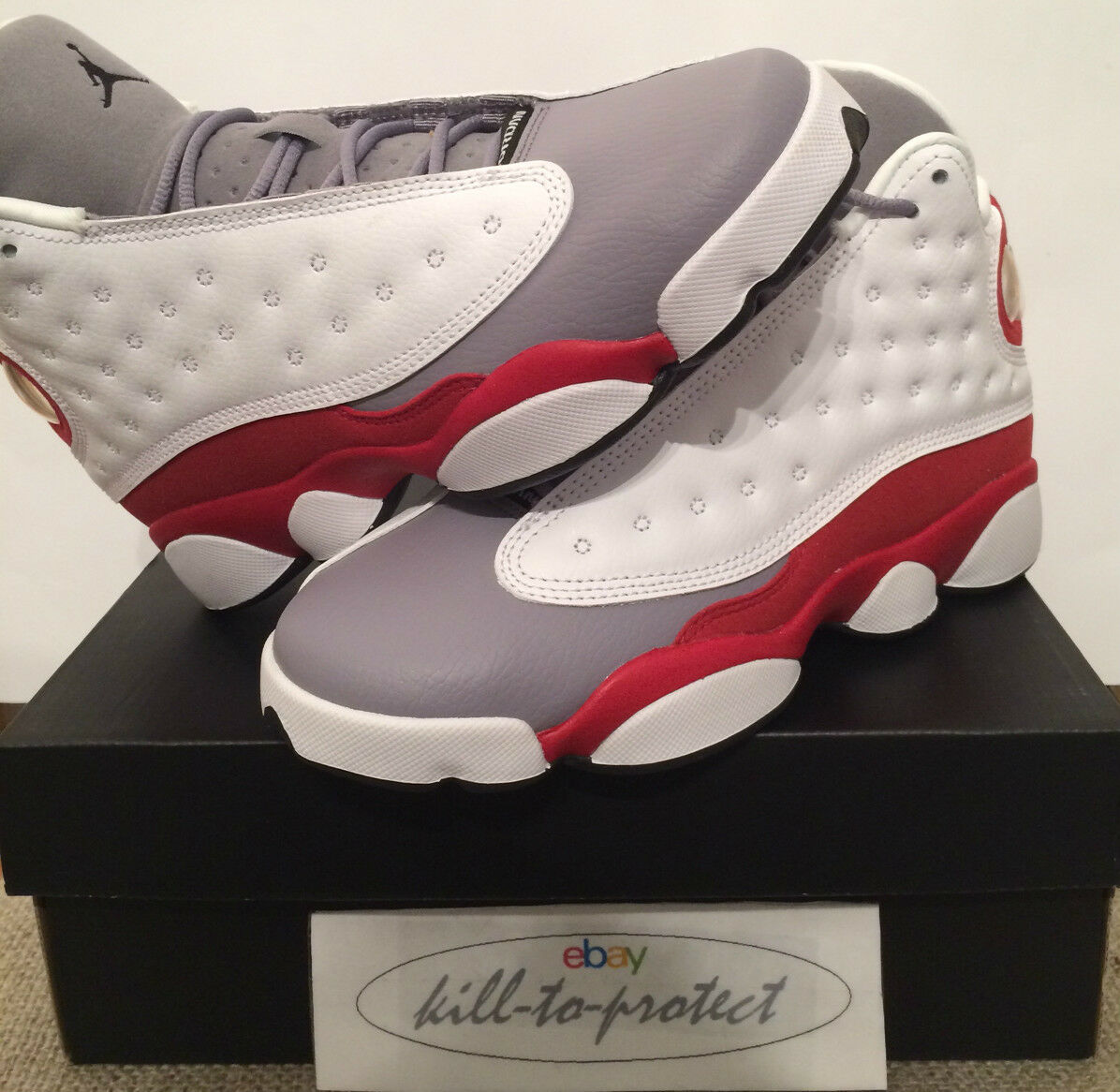 NIKE AIR JORDAN ONE 13 GREY TOE ROT GS Sz KIDS 4.5Y 5Y 5.5Y 6Y KIDS Sz 414574-126 2014 4cb763