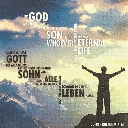 20 Servietten John 3 16 Kommunion Konfirmation Kirche kirchlich Spruch Vers