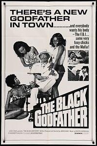 THE BLACK GODFATHER 1974 Movie Poster 27x41 #Blaxploitation #BMovie #MoviePoster