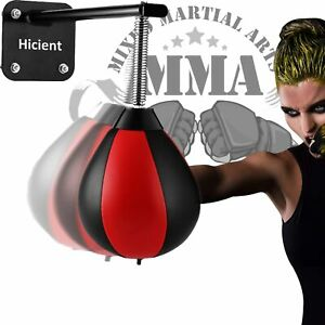 Hicient Punching Bag Reflex Speed Bag with Reinforced Spring Wall-Mounted Strong Durable Boxing Ball Relief Stress Ball for Kids Adults Home Office Gym Green