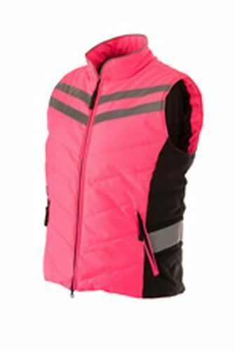 EQUISAFETY QUILTED HI-VIS GILET - XLARGE PINK - EQY1530