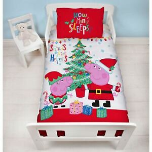 Officiel-peppa-pig-Noel-Noel-Junior-Bebe-Duvet-Couverture-Ensemble-Enfants