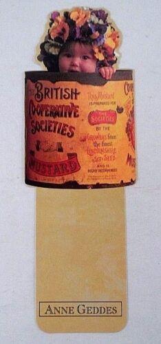 NOS Antioch Publishing Anne Geddes Sweet Baby in British Mustard Tin Bookmark