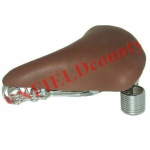 New-Complete-Fit-Comfort-Brown-Leather-Seat-Saddle-For-Vintage-Bicycle-Cycle