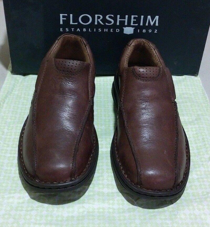 Scarpe casual da uomo New Florsheim Comfortech Getaway Bike Slip 7 M brown (2361)