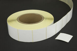 2,000 Checkpoint®  System Compatible 8.2 RF Label 3x3cm size, Plain White 1 Roll