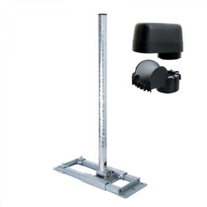 DELUXE-Dachsparrenhalter-130cm-Mast-SAT-Sparrenhalterung-Dach-Halter-Mastkappe