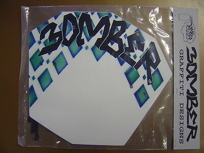 NOS Bomber Graffiti Designs Pro Number # Plate Old Mid School BMX Vintage 4162
