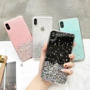 For-iPhone-XS-Max-XR-X-7-8-6s-Cute-Bling-Glitter-Slim-TPU-Soft-Clear-Case-Cover