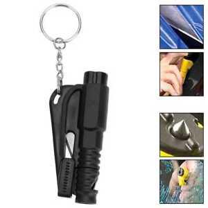 Herramienta de Rescate Seguridad Rompe Cristales Corta Cinturones Silbato Negro