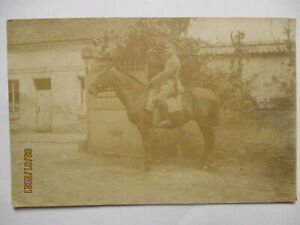 German-Soldier-For-Horse-Photo-Card-With-Many-Text-26525
