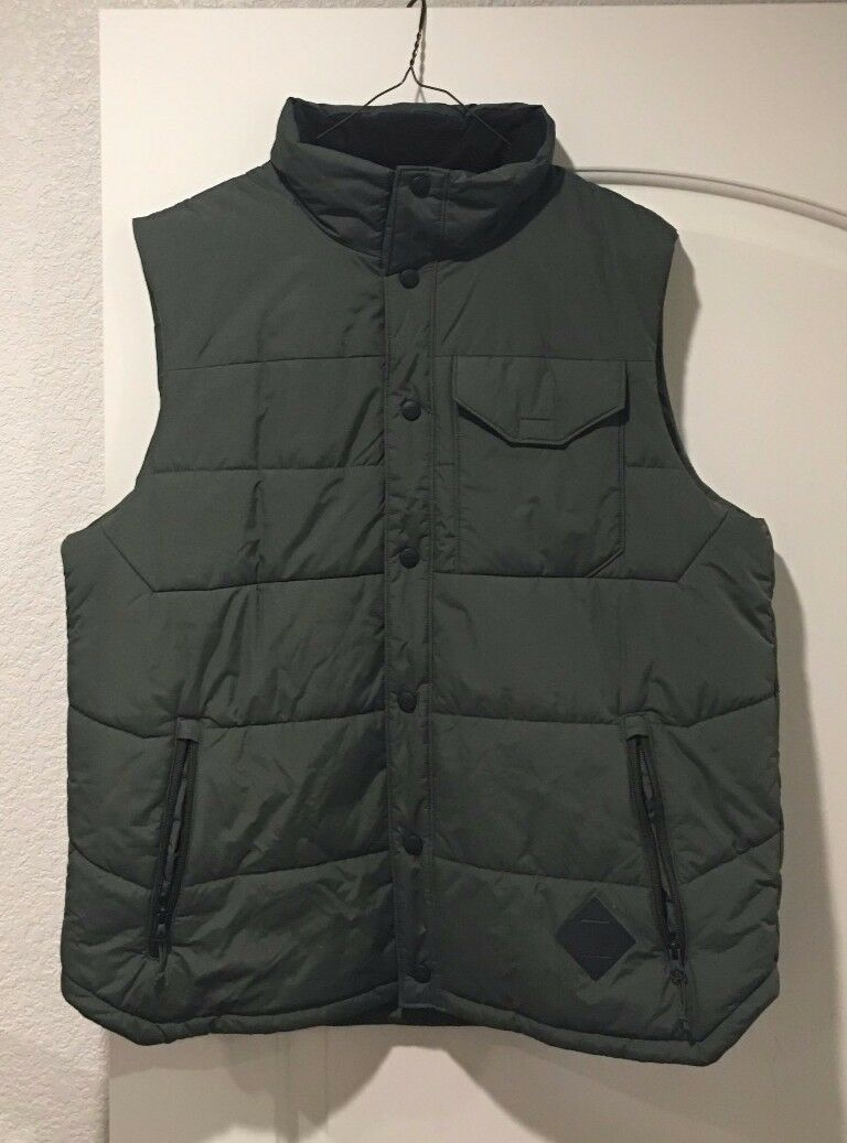 North Face Down Vest,  Green, Large  outlet store