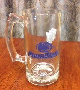 Vintage-Penn-State-College-Glass-Mug-Blue-amp-White-Nittany-Lions-PSU