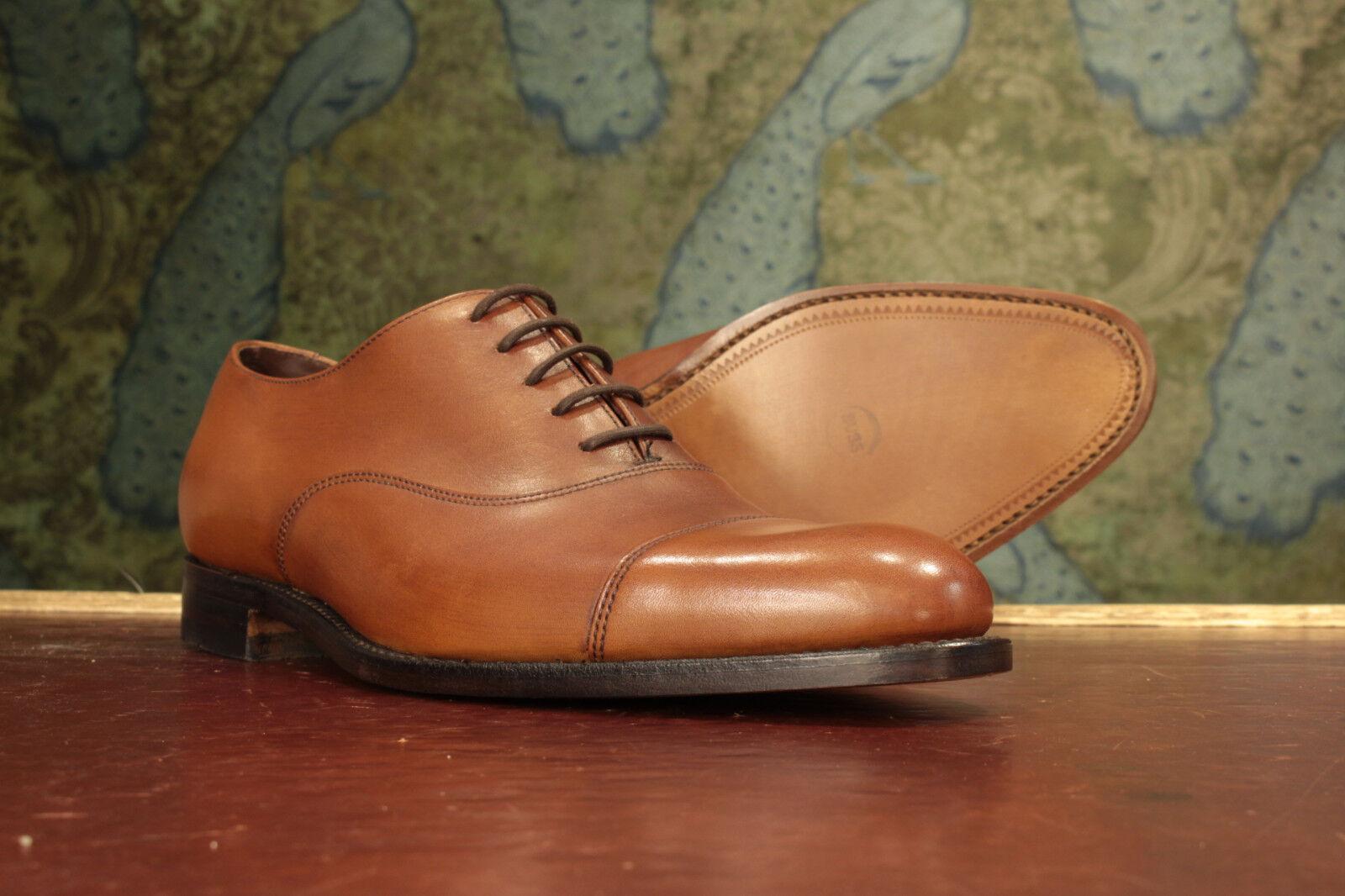 Loake Holborn Mahogany Oxford Schuhes 9G - NEU Seconds RRP £200 (16642)
