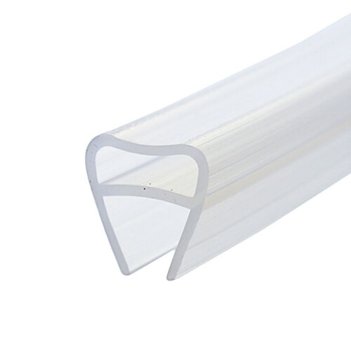 F Shaped Frameless Window Shower Door Seal Clear for 6//8//10//12mm Glass