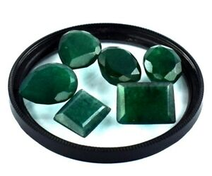 44.75 Ct Mix Shape Green Emerald Gemstone Natural Colombian Lot Certified X9849