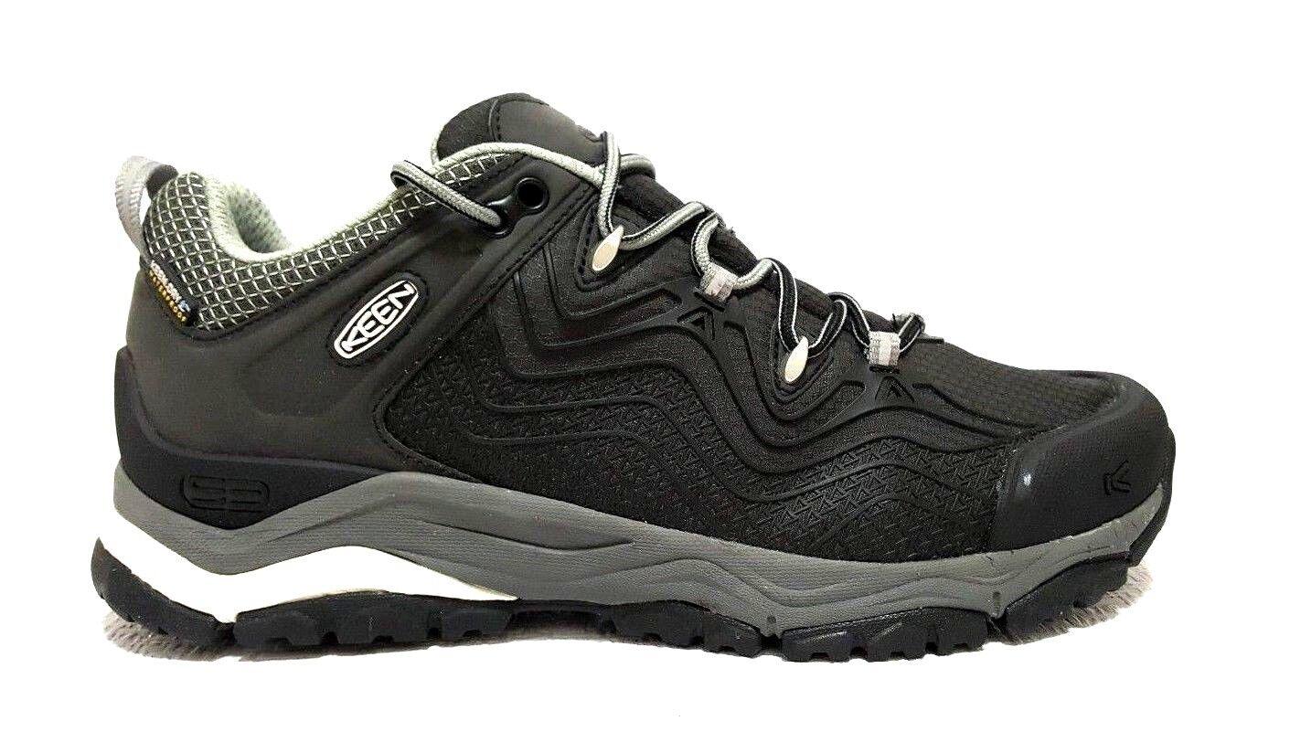 KEEN Women's Aphlex Waterproof Hiking Shoe Black/Gargoyle  US10.5