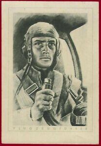 German WW 2 Third Reich postcard LUFTWAFFE  Pilot
